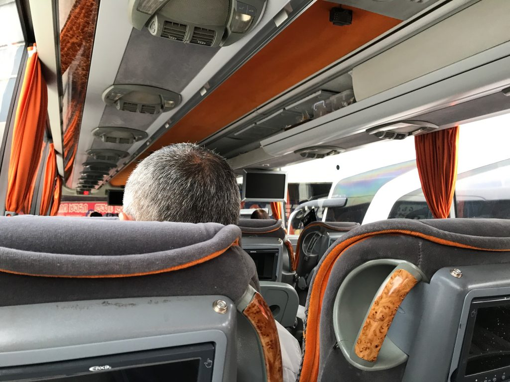 メトロ社のバス車内