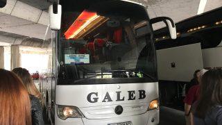 オフリド行きのバス