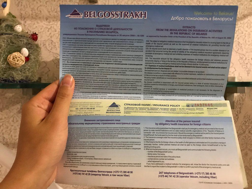 ミンスク旅行保険
