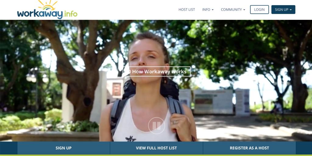 WorkawayのWebサイト