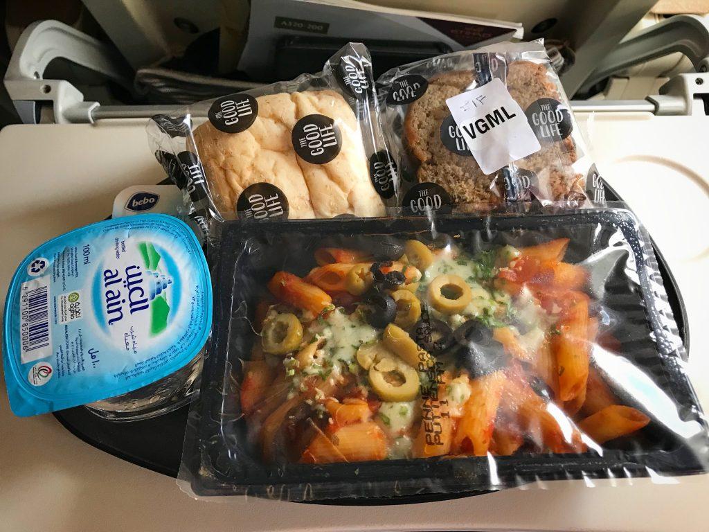 エティハド航空ベジ機内食