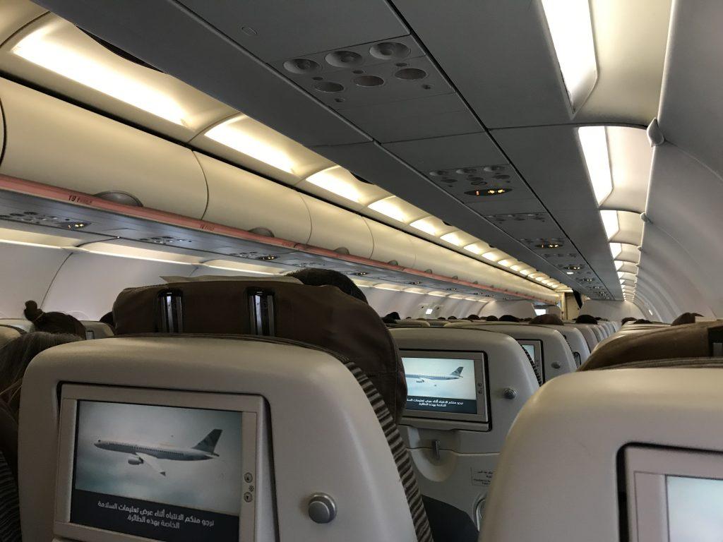 エティハド航空の機内