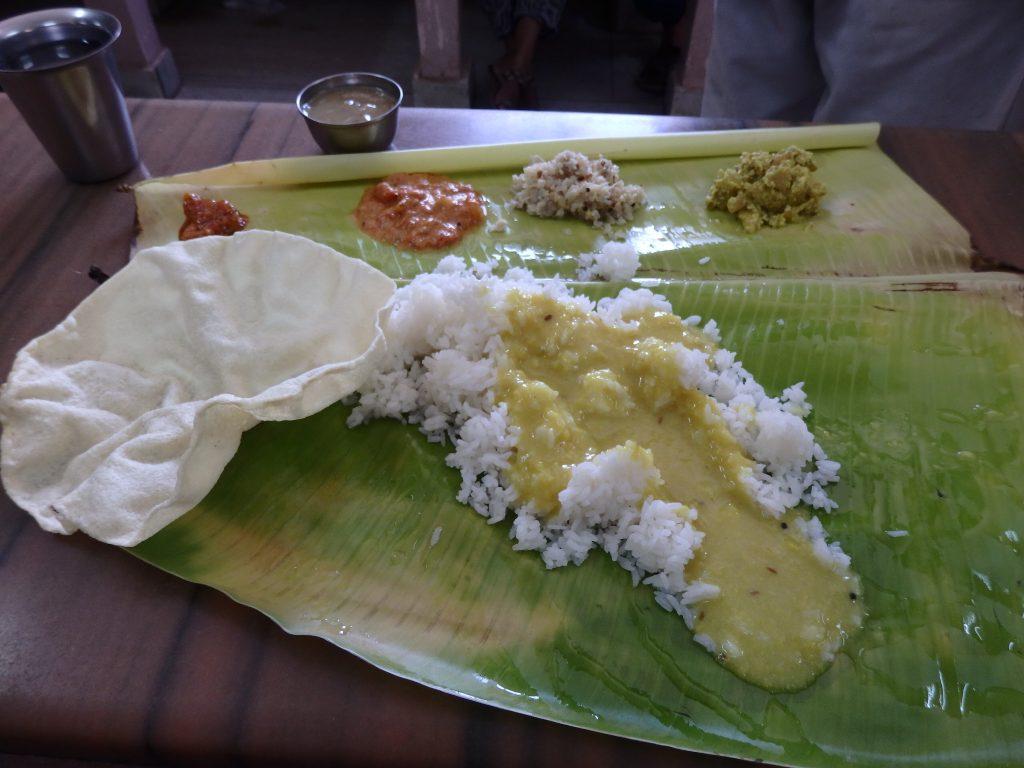 カンニャクマリで食べたミールス