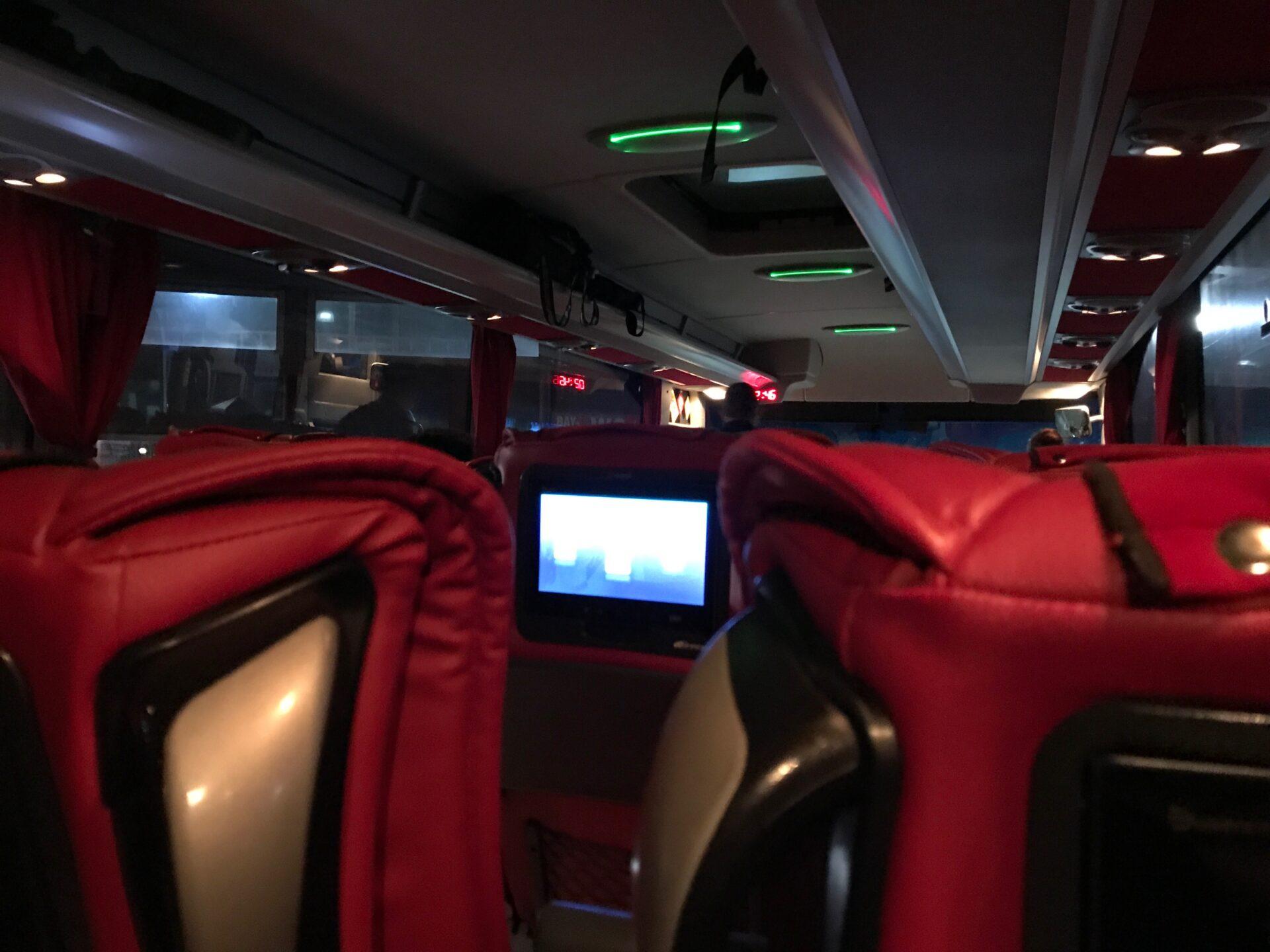 トラブゾン〜ドゥバヤジットのバスの車内