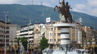 スコピエアレクサンドロス大王の銅像