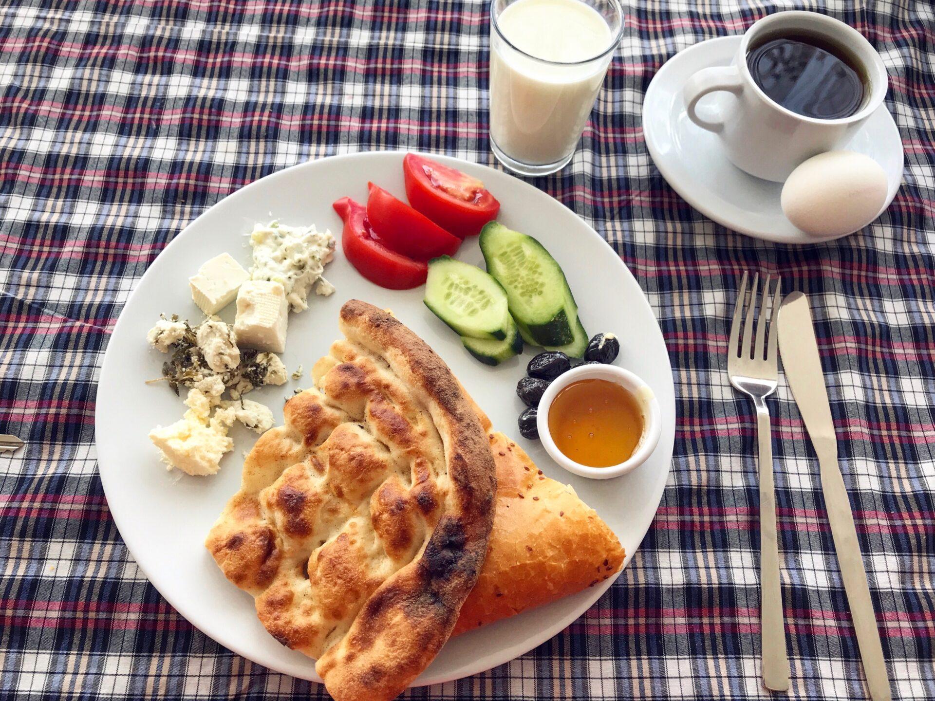 Toprakhotelの朝食